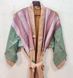 Festival Dress, Festival Outfits, Festival Clothing, Indian Silk Sarees, Pure Silk Sarees, Floral Kimono, Kimono Dress, Dressmaking Fabric, Floral Bags