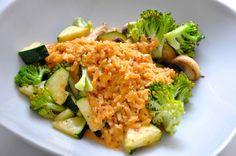 Gute geeignet für die Phase 2 der Proweightless-Diät - das Hühnchen-Peperoni-Risotto.  Am Besten zubereitet mit ein wenig Aubergine und Brokkoli dauert es keine 10 Minuten in der Vorbereitung und ist ein Schmackhaftes Mittag oder ein leckeres Abendessen.