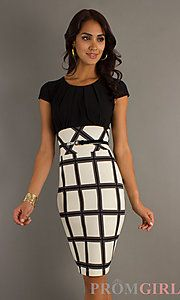 Short Belted Dress with Print Skirt