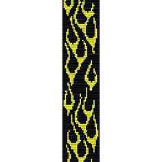 Free Loom Bead Patterns | FLAMES - LOOM beading pattern for cuff bracelet (buy any 2 patterns ...