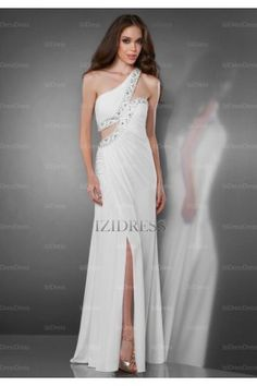 Sheath/Column One Shoulder Chiffon Evening Dress - IZIDRESSES.COM at IZIDRESSES.com