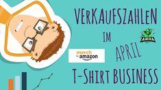 Meine Einnahmen von April in POD Print on Demand I Amazon MBA, Spreadshi... T Shirt Designs, Print On Demand, Amazon Merch, Little Bit, Business, Advertising Ads, Business Illustration, Tee Shirt Designs