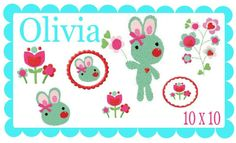 Stickdatei Olivia 10x10 von Gioia auf DaWanda.com