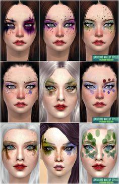 Makeup Styles Disco Diva Fantasy EyeShadow at Jenni Sims via Sims 4 Updates