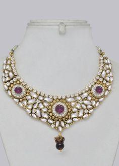 Kundan Jewellery Indian Set : Indian Bangles, - Buy Indian Jewellery ...