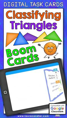 Classifying Triangles digital self-checking Boom Cards™ are a fun way for students to practice identifying and classifying triangles based on the properties of their sides and angles.   #BoomCards #DigitalTaskCards #DistanceLearning #classifyingtriangles #mathboomcards #geometryboomcards Teacher Hacks, Best Teacher, Elementary Education, Elementary Art, Classifying Triangles, Active Engagement, Engage In Learning, 4th Grade Math, Bright Ideas