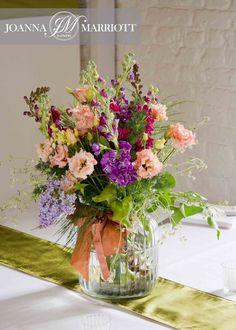 nature inspire, natural flower arrangement, for wedding breakfast.