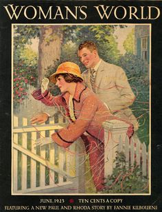 1923 Woman's World magazine - again a good example of a arts & crafts front garden.
