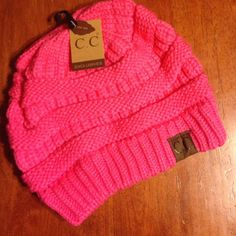 Hot Pink CC Beanie. Last One!!! Brand new with tags. Hot pink CC beanie. Last one!! CC Accessories Hats