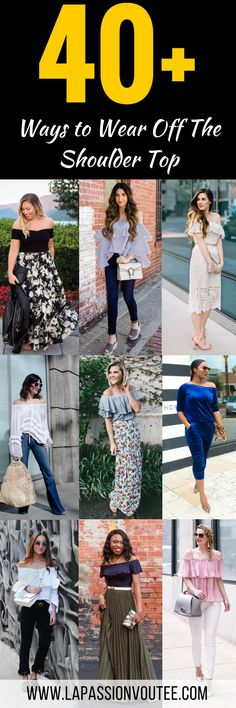 42 Fashionistas Show Us How to Wear Off The Shoulder Top |  | Get inspired on how to serve serious hotness in an off the shoulder top outfit for these stylish fashionistas. off the shoulder top, off the shoulder top outfit, off the shoulder top diy, off the shoulder top summer, off the shoulder top outfit casual, off the shoulder tops & dresses, off the shoulder tops, off The Shoulder Top sweaters.