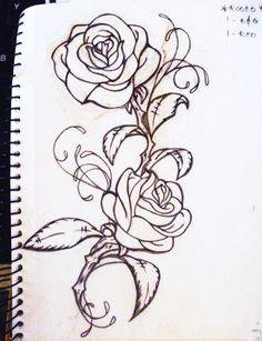 rose tattoo illustration