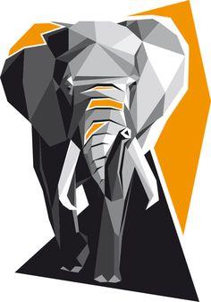 T-Shirt Design für Kontaktstoff Designshirt Manufaktur, im Polygon-Stil. www.kontaktstoff.de