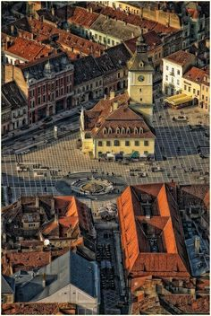 The Old Council Square in Brasov, Romania.