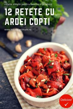 Romanian Food, Avocado, Vegan Recipes, Good Food, Strawberry, Food And Drink, Appetizers, Stuffed Peppers, Vegetables