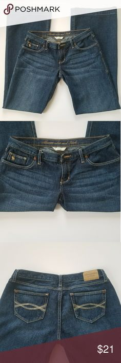 Abercrombie & Fitch Size 4 Denim Bell Bottom Jeans ***NEVER WORE*** LIKE NEW (NO Tags)  Abercrombie and Fitch Dark Denim Bell Bottom Jeans   Size: 4 Regular  Style: Bell Bottoms  Color: Dark Denim   Smoke & Pet FREE!!!  PURCHASE BY 1PM CST USUALLY SHIPS SAME DAY!!! Abercrombie & Fitch Jeans