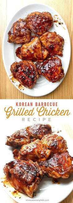 Nutritious Snack Tips For Equally Young Ones And Adults Korean Bbq Chicken Recipe Barbeque Chicken Recipes, Korean Bbq Chicken, Asian Bbq, Grilled Chicken Recipes, Grilling Recipes, Cooking Recipes, Korean Barbeque, Barbeque Chicken Grilled, Breaded Chicken