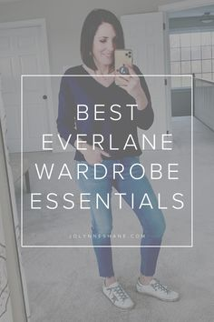 I woke up this morning to find an unprecedented Everlane sale -- off sitewide through Friday! I rounded up my favorite Everlane wardrobe essentials all great quality pieces at amazing prices! Fashion Bloggers Over 40, Classy Yet Trendy, Spring Fashion Trends, Classic Style Women, Slow Fashion, Fashion Advice, Really Cool Stuff, What To Wear, Summer Outfits
