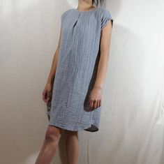 NEWSummer dress/ Tunic /Textured/100% DOUBLE gauze   Etsy Trendy Outfits, Fashion Outfits, Womens Fashion, Top Photos, Normcore, Fashion Forever, Long Tops, Fashion Addict, Cotton Dresses