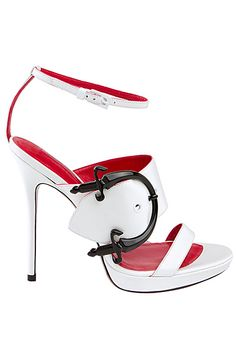 Cesare Paciotti White Sandal 2013 Spring #Shoes #Heels with <3 from JDzigner www.jdzigner.com