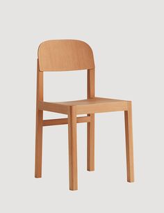 An honest chair with few but right details. Its refined joints and the visible wooden grains in the chair's structure, emphasize the craftsmanship put into the WORKSHOP chair. An understated Scandinavian design object with harmonious detailing.