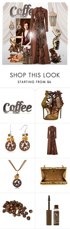 """""""coffee lover"""" by princhelle-mack ❤ liked on Polyvore featuring Rustic Arrow, Dsquared2, Nicole, Dolci Gioie, Ronald Amey and Rimmel"""