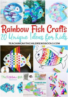 20 of the Very Best Rainbow Fish Crafts for Kids 20 of the Very Best Rainbow Fish Crafts for Kids teachingwithchild… Related posts: Fish Kids Crafts – Ocean Theme folding paper fish craft for kids Rainbow Fish Eyfs, Rainbow Fish Activities, Rainbow Fish Crafts, Ocean Crafts, Rainbow Art, Rainbow Fish Template, Kids Rainbow, Preschool Arts And Crafts, Kindergarten Activities