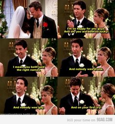 I love Ross! Three tries at marriage and he finally got Rachel! :)