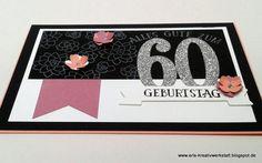 """#Geburtstagskarte zum 60. #Geburtstag mit """"Sukkulente Akzente""""   http://eris-kreativwerkstatt.blogspot.de/2017/01/geburtstagskarte-zum-60-geburtstag-mit.html  #stampinup #teamstampingart #karte"""