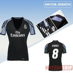 e42db821f89 Newest Cool Real Madrid Black Purple 2016 17 Third Womens Replica Jersey  With Kroos