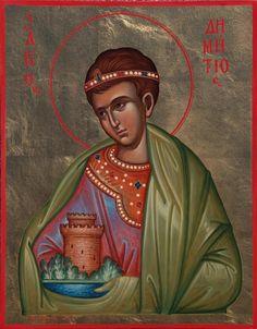 Saint Demetrios / Άγιος Δημήτριος Religious Paintings, Byzantine Icons, Orthodox Christianity, Orthodox Icons, Christian Art, Saints, Pictures, Quotes, Byzantine Art