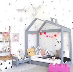wooden house inside kids room