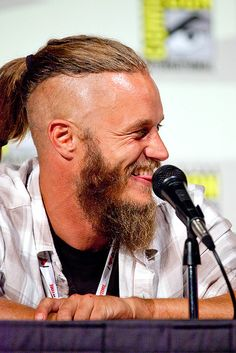 So I heard you love the Vikings! Travis Vikings, Vikings Travis Fimmel, Ragnar Lothbrook, King Ragnar, Vikings Tv Series, Vikings Tv Show, Bald With Beard, Viking Shirt, Face Characters