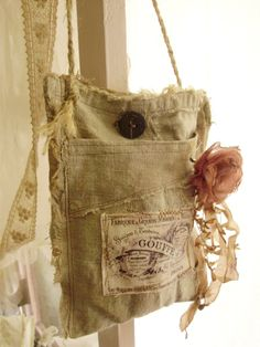 shabby chic French bag