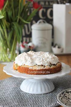 rhabarberkuchen mit baiser rezept Castlemaker Foodblog aus Baden Mock Turtle Soup, Camembert Cheese, Tart, Vitamins, Dishes, Super, Desserts, Blog, Portal