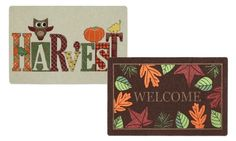 Warmly welcome guests in from the crisp autumn winds with one of these delightful and durable doormats featuring fall colors and designs