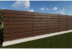 Constructie gard din beton si lemn GA02 Garage Doors, Fences, Wood, Outdoor Decor, Modern, Home Decor, Picket Fences, Trendy Tree, Decoration Home