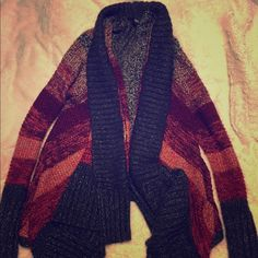 A.N.A cardigan Multi colored cardigan with long front tails. Very thick and warm. In excellent condition a.n.a Sweaters Cardigans