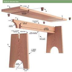 """Résultat de recherche d'images pour """"Sliding Dovetail Bench - Woodworking Projects - American Woodworker"""""""