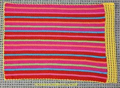 Stripey #crochet placemat tutorial from homemade@myplace