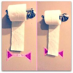 Toilet paper line - help your kids get the right amount of TP!