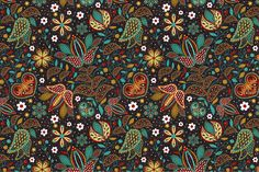 Floral seamless pattern by Sunny_Lion on Creative Market