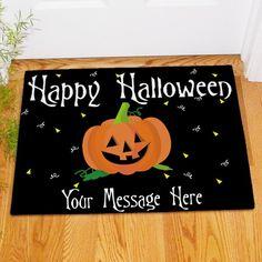 Black Halloween Personalized Doormat | Bellas Personal Gifts