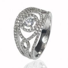 Bague dentelle de diamant - Fuschia - Bagues diamant - Private Diamond Club