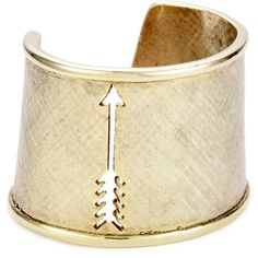 House of Harlow 1960 Gold-Plated Arrow Cut Out Cuff Bracelet found on Polyvore