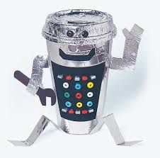 Image result for robots made from plastic bottles