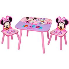 Delta Children's Products Disney Minnie Mouse Activity Table and Chairs Set