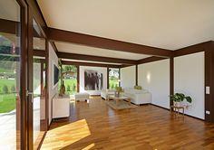 Kundenhaus - Brixental | Innansicht Wohnzimmer | Finden sie mehr Informationen zu diesem Kundenhaus auf http://www.davinci-haus.de/haeuser-standorte/kundenhaeuser/wilder-kaiser-brixental/ #Traumhaus #Fertighaus #Holfachwerk
