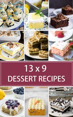 Whether you are hosting a gathering at home or heading out to a potluck with friends, you're sure to find some inspiration in this collection of 20 delicious 13 x 9 Dessert Recipes for a Crowd. Easy Cheap Desserts, 13 Desserts, Potluck Desserts, Make Ahead Desserts, Cheesecake Desserts, Blueberry Cheesecake, Potluck Recipes, Delicious Desserts, Dessert Recipes