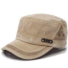 8fc2833c3a0 Liann Unisex Cotton Blend Military Washed Baseball Cap Vi... https