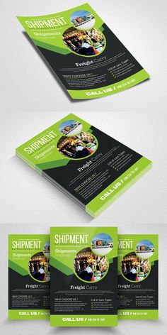 Freight Shippment Flyer #creativemarket #graphicriver